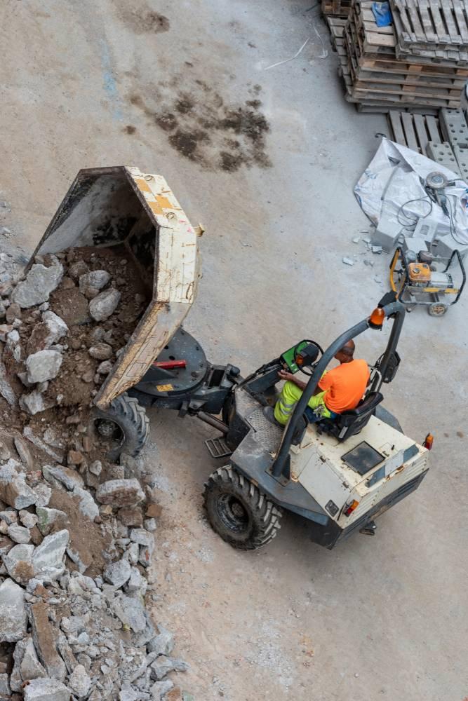 Dumper on Construction Site
