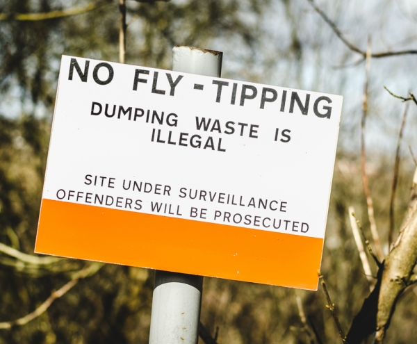 Fly Tipping Sign